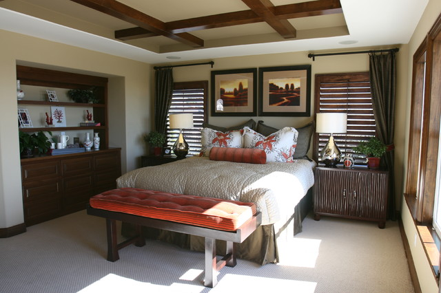 Asian Inspired Master Bedroom Contemporary Bedroom