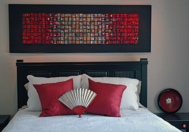 Asian Japanese Paper Silk Artwork Asian Bedroom Atlanta By Luci