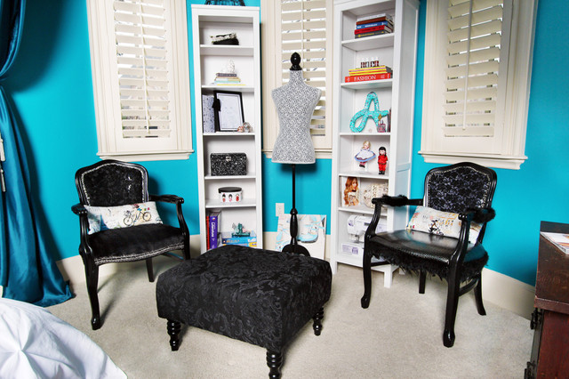 Aspiring fashion designers special draped area Eclectic Bedroom