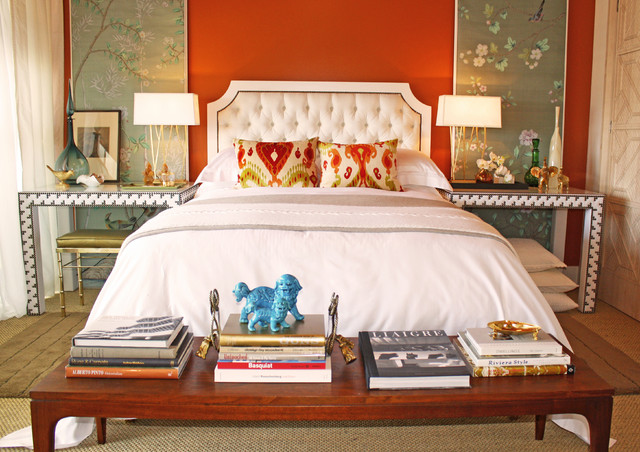 eclectic bedroom by Domicile Interior Design