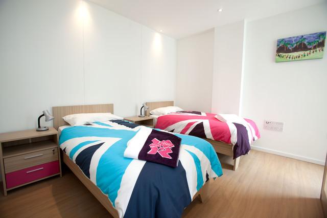 Athletes' Village Apartments contemporary-bedroom