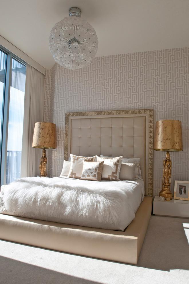 Inspiration for a zen bedroom remodel in Atlanta