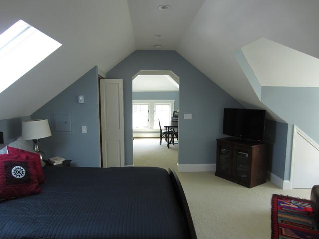 blue attic room ideas - Attic Addition Master Suite Traditional Bedroom