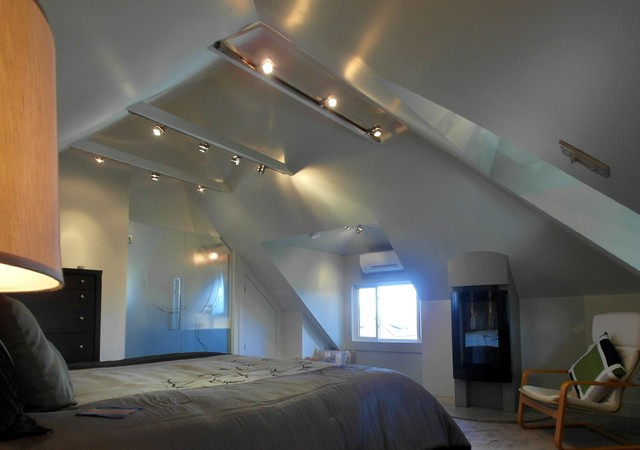 Attic bedroom and Ensuite - eclectic - bedroom - ottawa - by 7j DESIGN