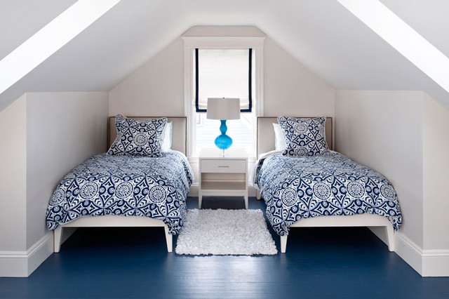 Attic Bedroom Contemporary Bedroom Boston By
