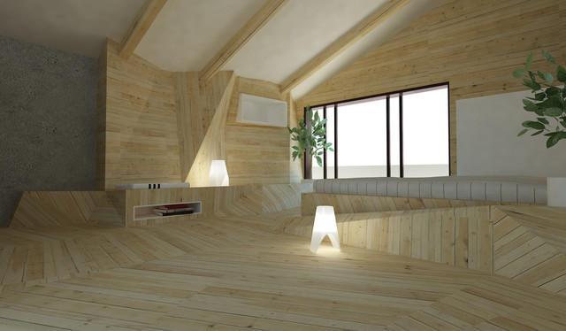 Attic Design contemporary-bedroom