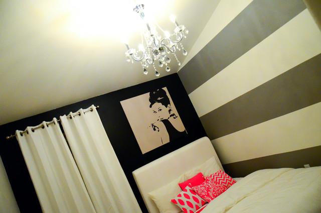 Audrey Hepburn Inspired Bedroom Contemporary Bedroom