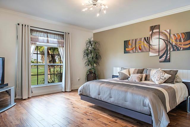 Audubon Whole Condo Remodel - Master Bedroom modern-bedroom