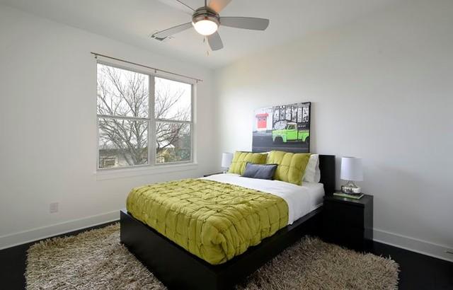 Austin Barton Hills House eclectic-bedroom