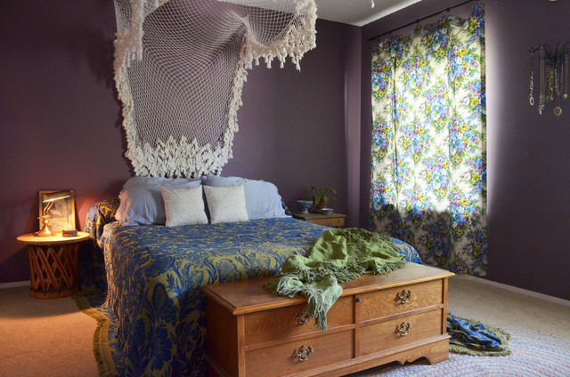eclectic bedroom by sarah greenman - Bohemian Bedroom Design