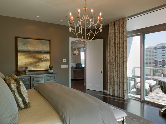 Austonian Luxury Condo Contemporary Bedroom Austin