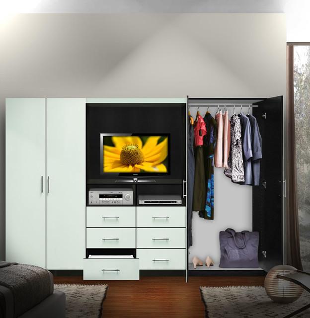 Aventa TV Wardrobe Wall Unit - Free Standing Bedroom TV Unit ...