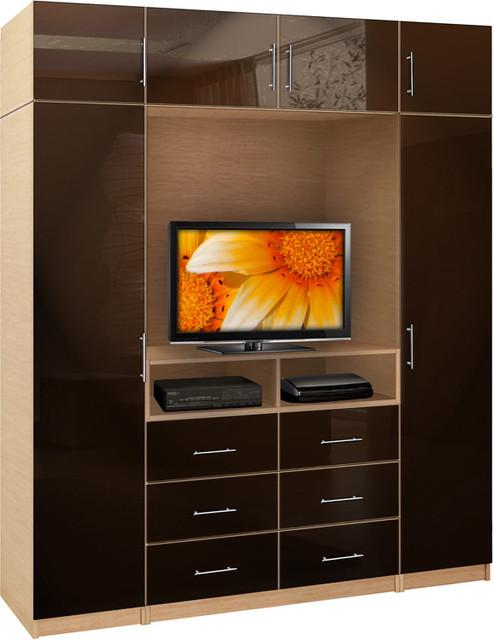 Aventa Wardrobe Tv Unit Bedroom Espresso
