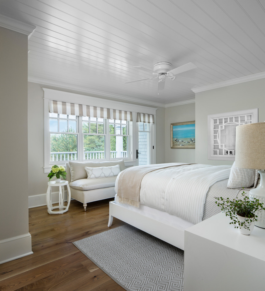 Inspiration for a coastal bedroom remodel in Other