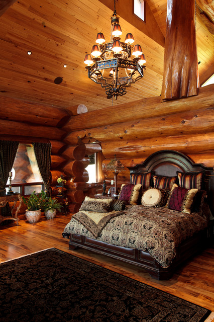 Awesome Log Cabin Rustic Bedroom