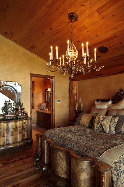awesome log cabin rustic bedroom dallas by