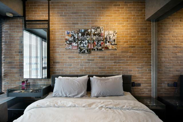 Bachelor Pad industrial-bedroom