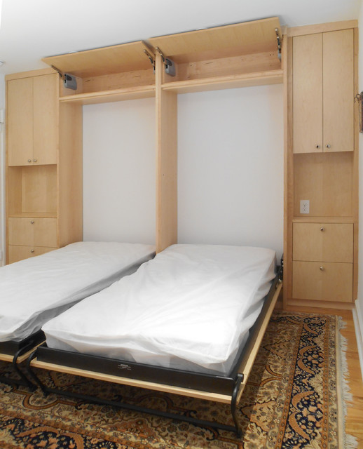 Bala Cynwyd Murphy Bed Room - Contemporary - Bedroom - philadelphia - by Boland Woodworking