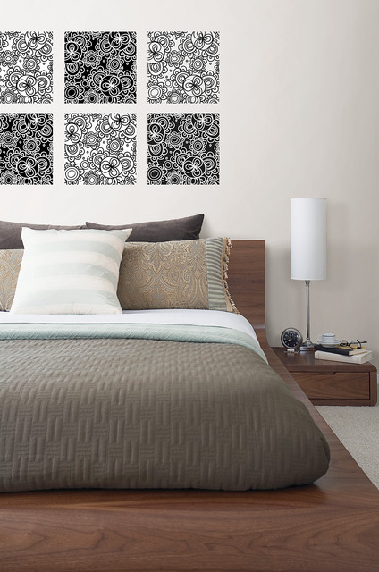 Bali Global-Chic wall art by WallPops contemporary bedroom