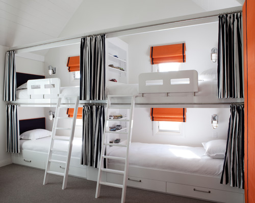 Tips for squeezing in more guest beds 4 beds in one room