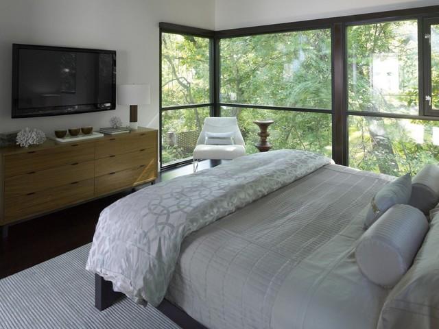 bedroom tv. Barksdale Residence Bedroom modern bedroom  Modern Atlanta by