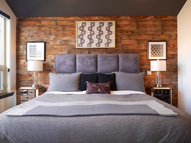 Barn board bedroom feature industrial bedroom. Barn board bedroom feature
