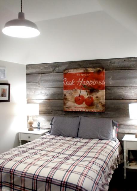 Barn Board Feature Walls Farmhouse Bedroom Toronto
