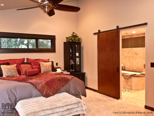 Barn Door Hardware Traditional Bedroom