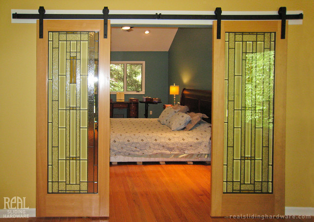 Barn door hardware traditional bedroom philadelphia for Bedroom barn door hardware
