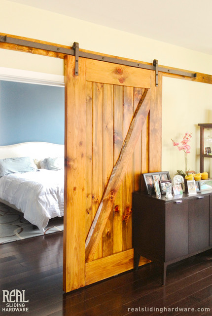 Barn Door Installations Traditional Bedroom Chicago By Real Sliding Hardware