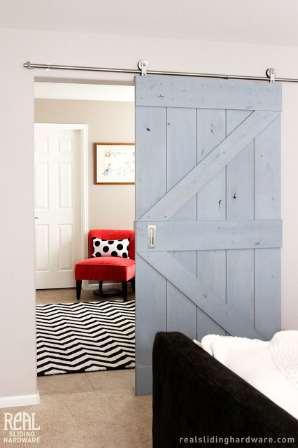 Barn Door Kits Contemporary Bedroom Other By Real