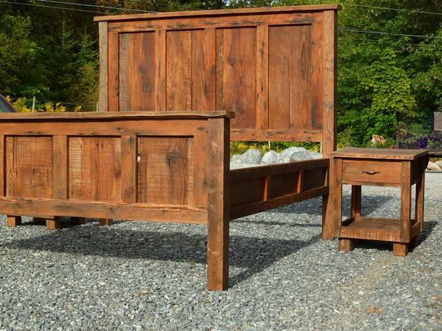 Barn wood furniture Craftsman Bedroom other metro