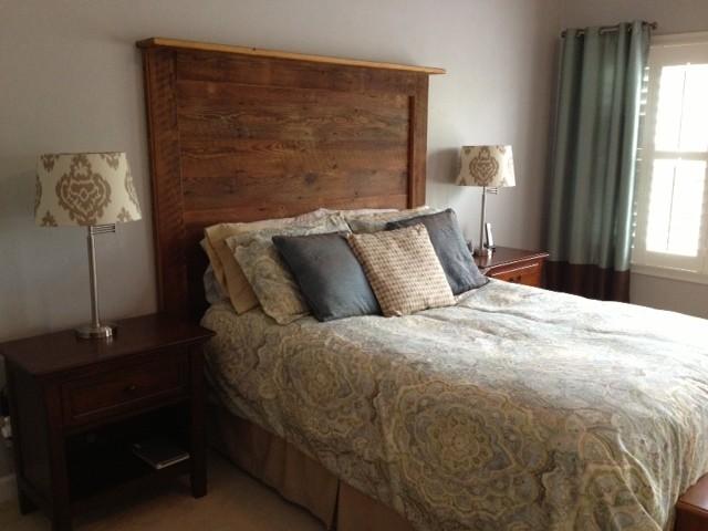 Barn Wood Headboards Contemporary Bedroom Richmond