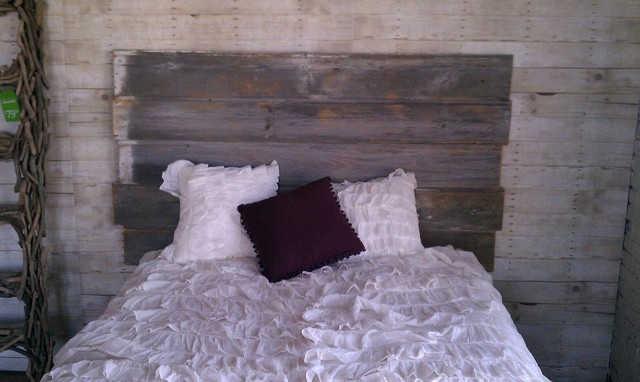 Barnwood Headboard Eclectic Bedroom St Louis By