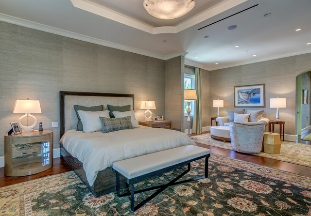 Example of a bedroom design in Los Angeles