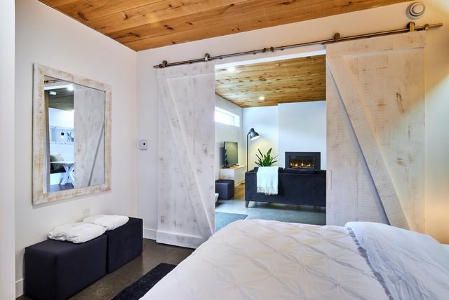 Scandinavian bedroom in Toronto.