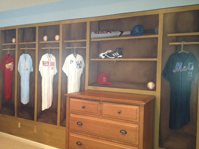 Baseball Room Traditional Bedroom