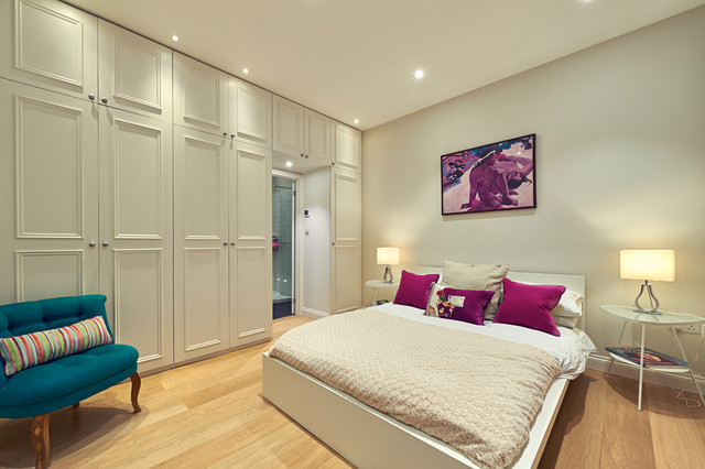 Georgian family home phase 2 contemporary bedroom for Georgian bedroom ideas