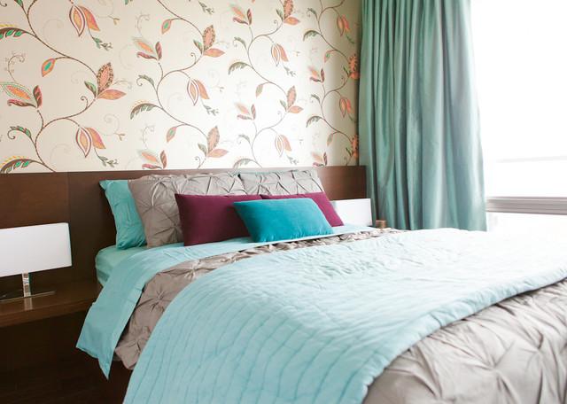 Bay Street condo contemporary-bedroom