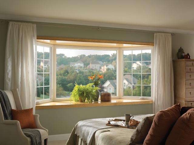 Bay Window Traditional Bedroom