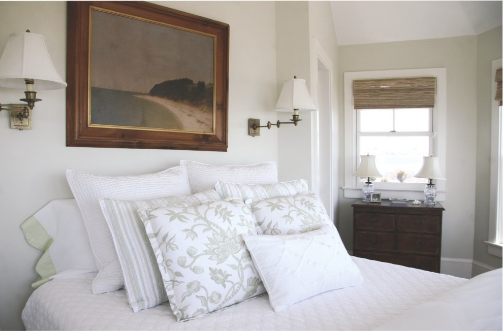 Beach style bedroom photo in Providence