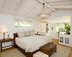 Beach Cottage Chic bedroom with custom-built in office traditional-bedroom