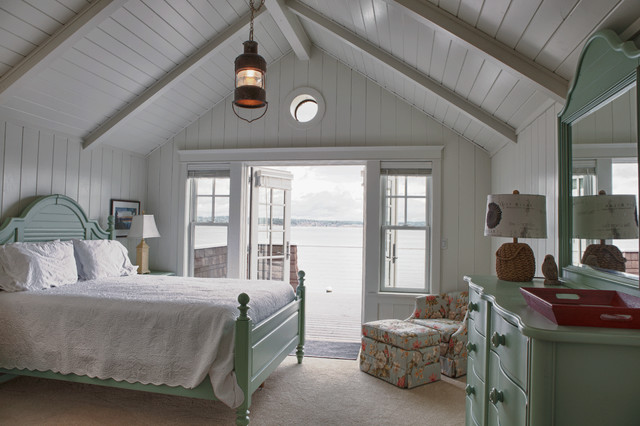 Beach Cottage Coastal Bedroom Seattle By Sykora Home Design