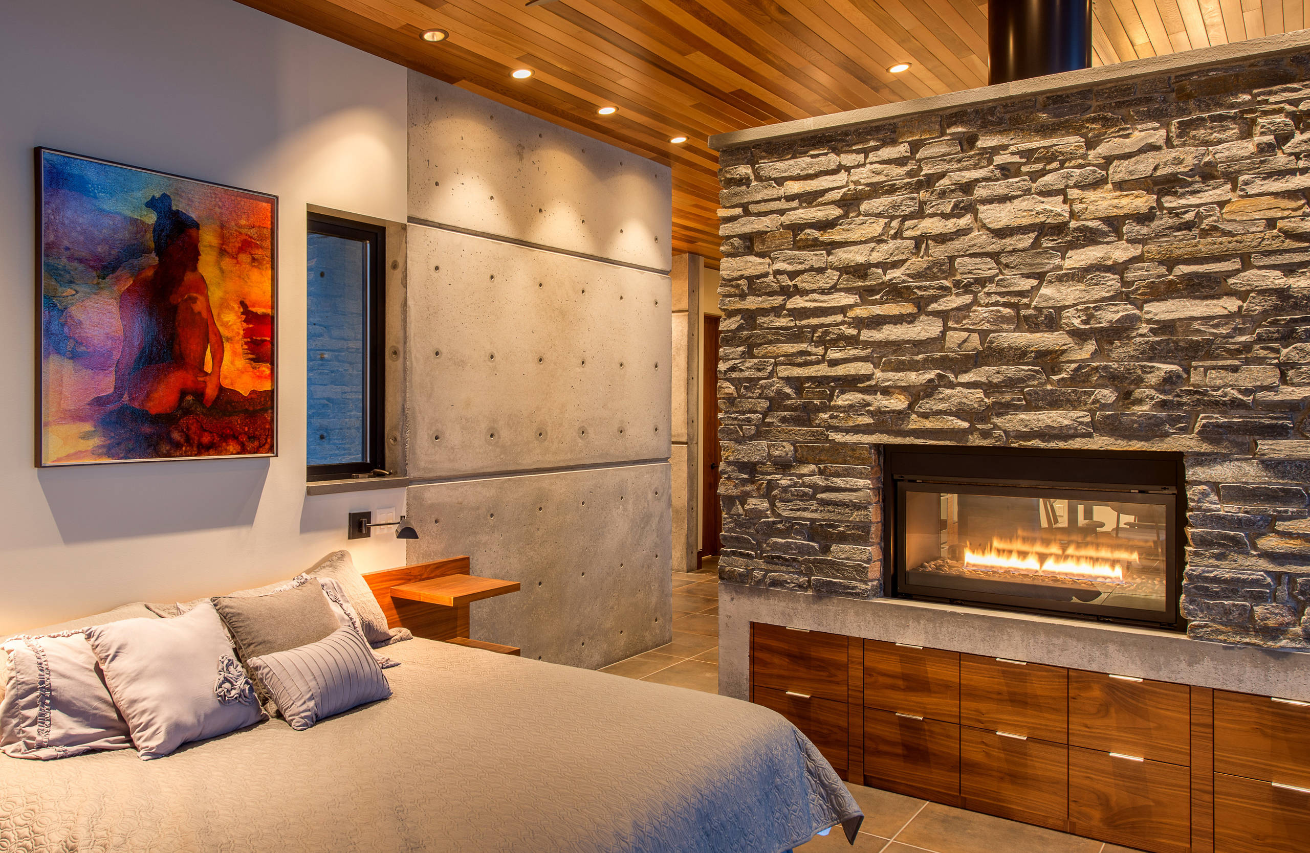 75 Beautiful Bedroom With A Wood Stove Pictures Ideas March 2021 Houzz