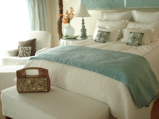 Beach house beach style bedroom los angeles by dailinger designs Beach house master bedroom ideas