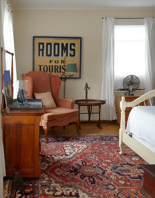 Coastal Bedroom Photo In San Francisco With Beige Walls