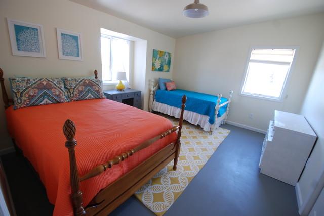 Beach Side Loft beach-style-bedroom