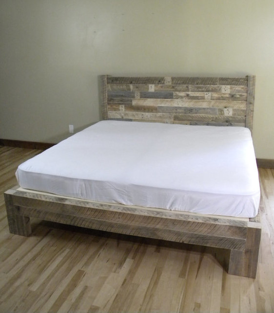 Beach Style Platform Bed -King Size