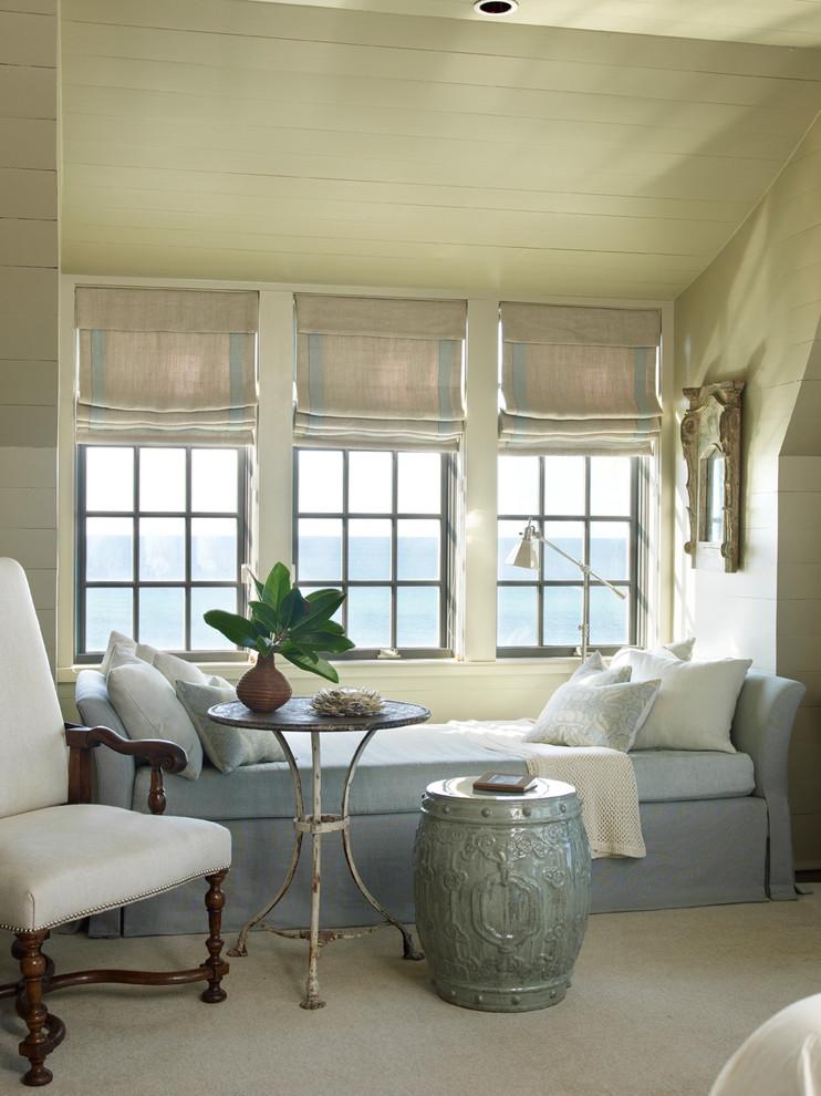 Inspiration for a coastal carpeted bedroom remodel in Atlanta