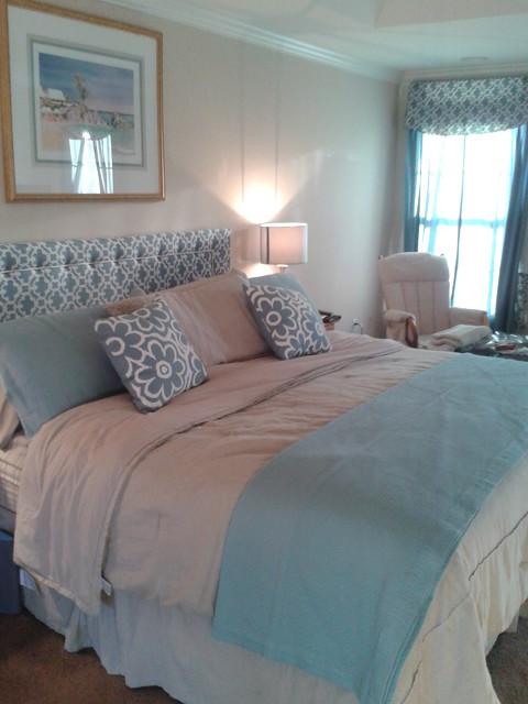Beachy Master Bedroom - beach themed master bedroom